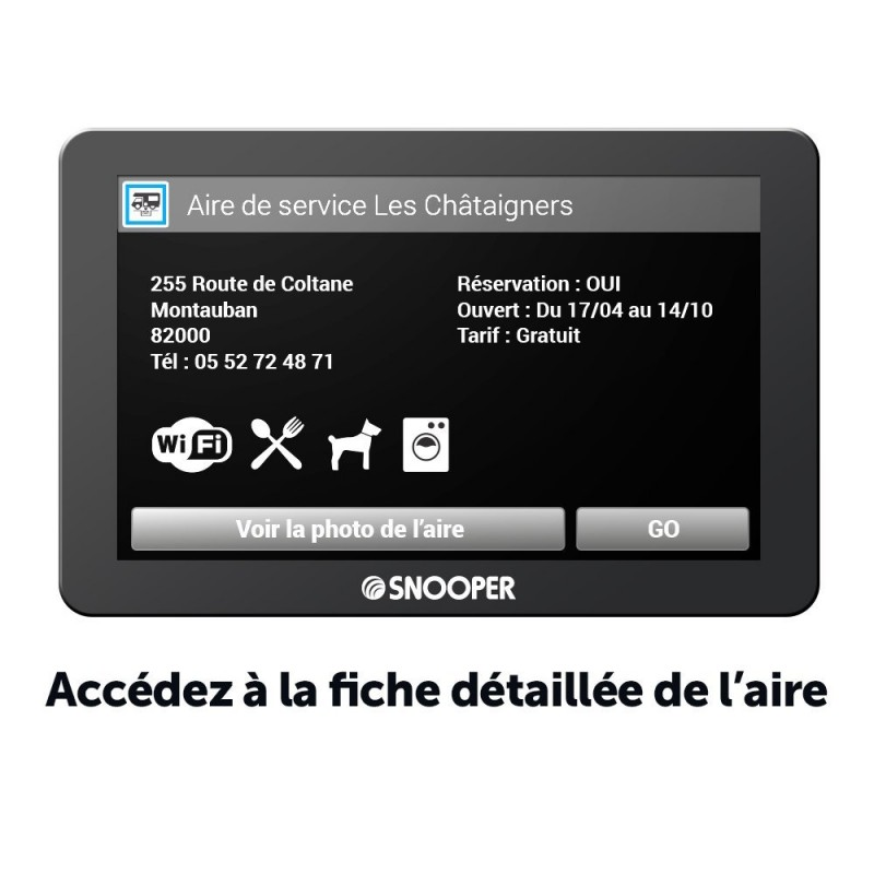 test du snooper cc8400 gps pour camping car avec tnt. Black Bedroom Furniture Sets. Home Design Ideas